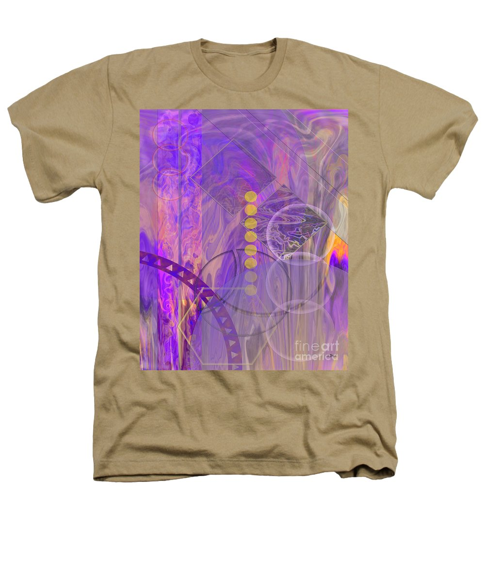 Lunar Impressions 3 Heathers T-Shirt featuring the digital art Lunar Impressions 3 by John Beck