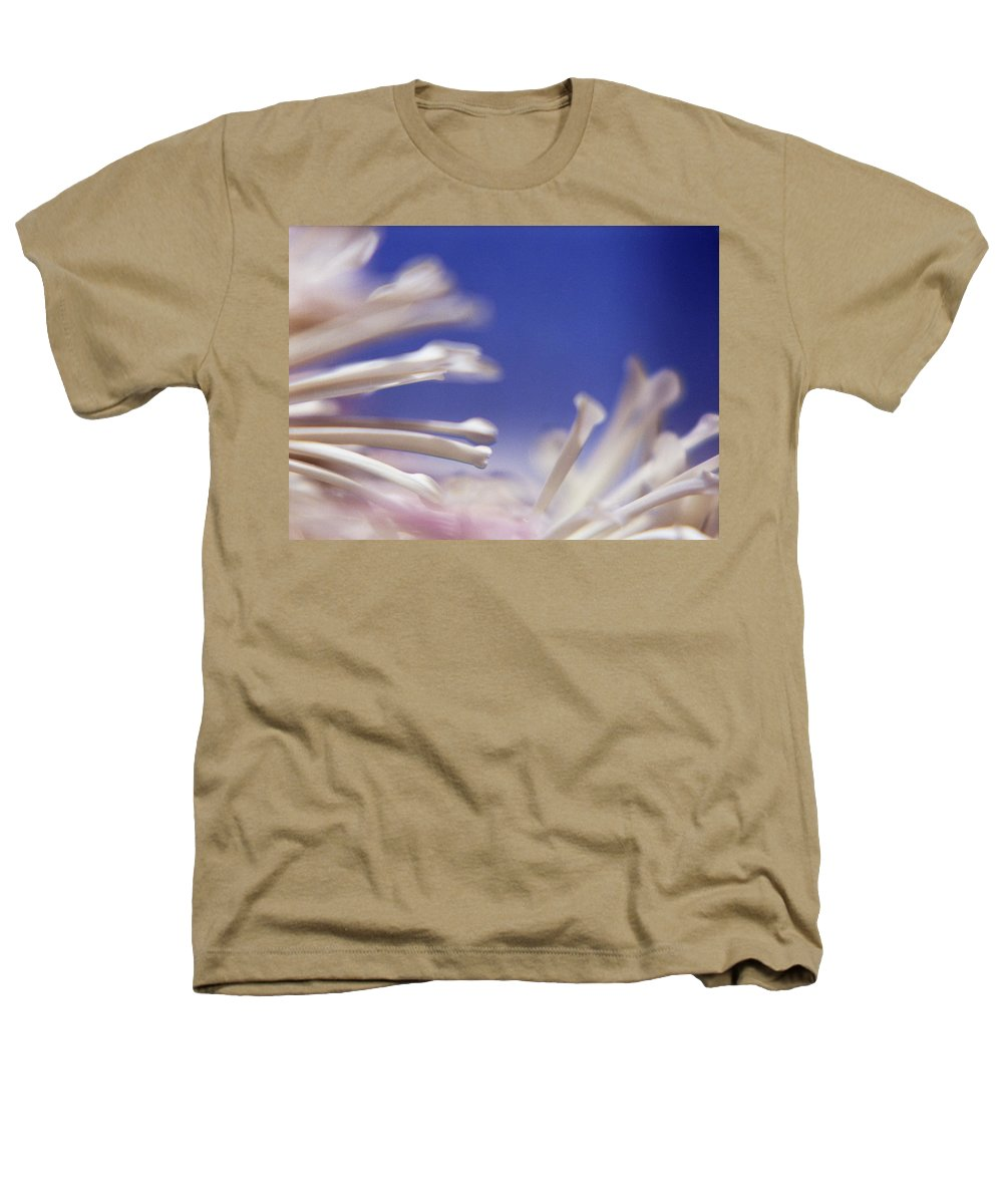 Macro Heathers T-Shirt featuring the photograph Macro Flower 2 by Lee Santa