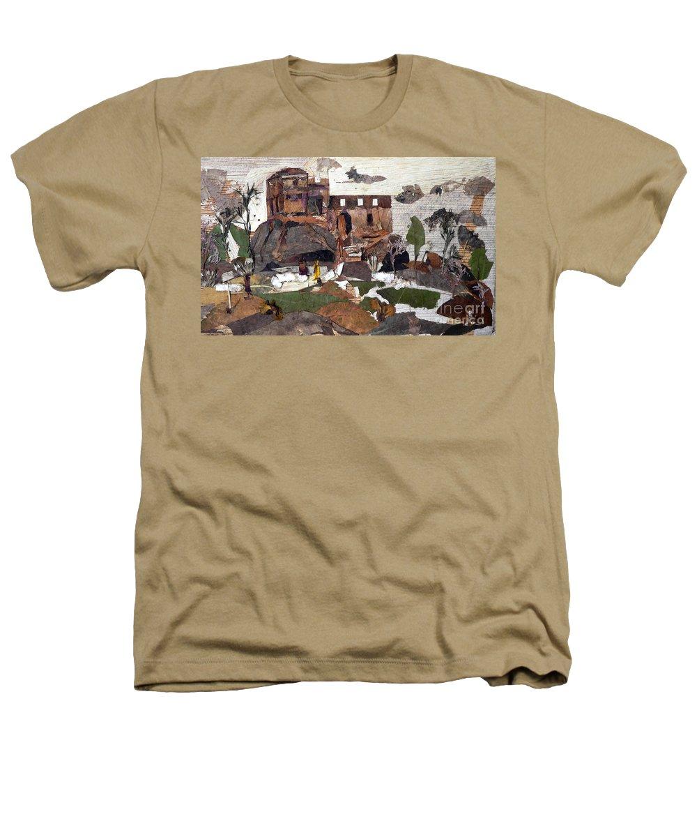 Palace Made By King Madan Shah Heathers T-Shirt featuring the mixed media Madan Mahal by Basant Soni