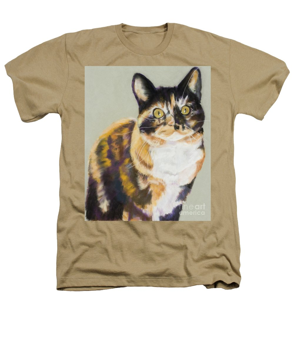Calico Heathers T-Shirt featuring the painting Maggie Mae by Pat Saunders-White