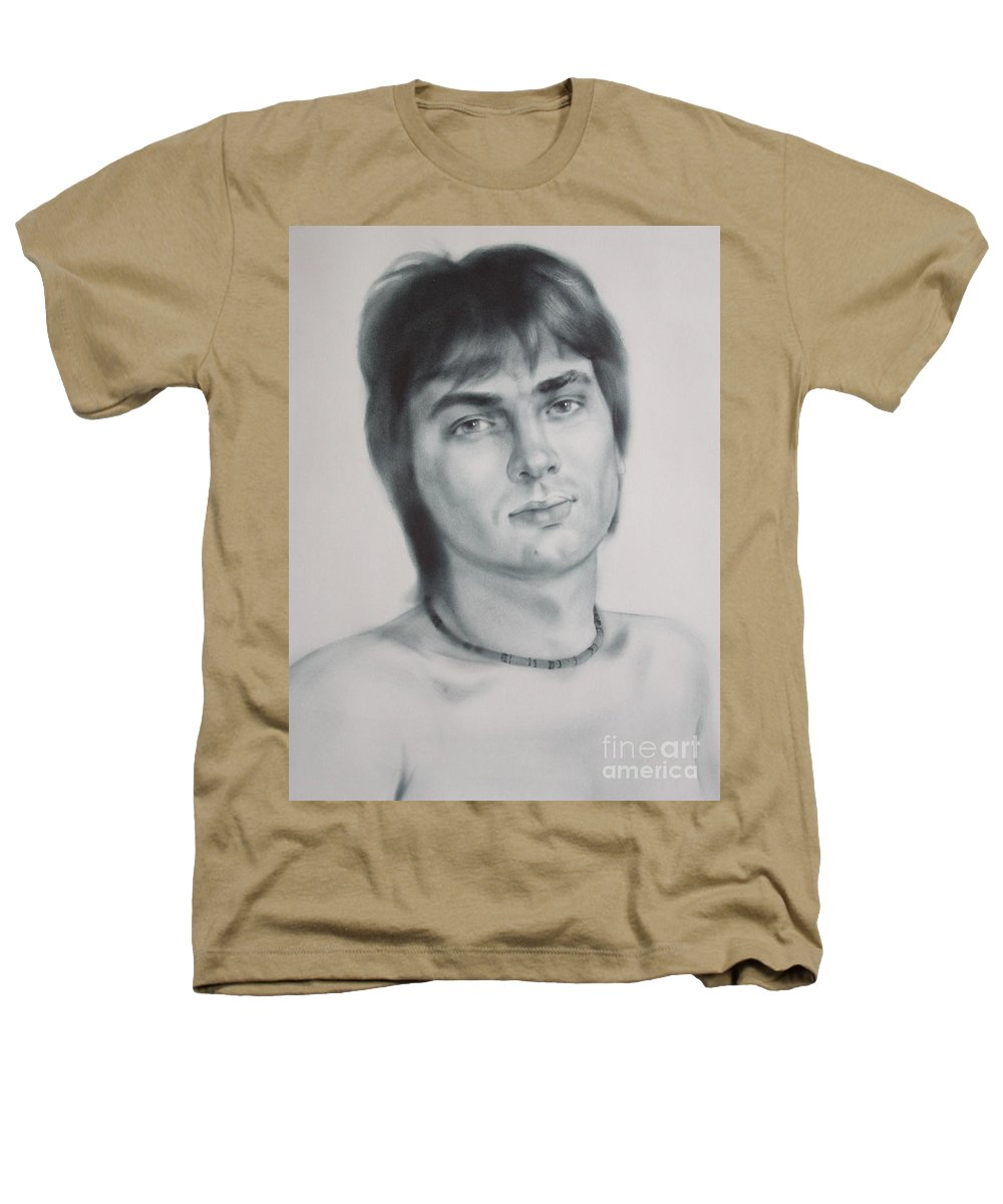 Art Heathers T-Shirt featuring the drawing Man by Sergey Ignatenko