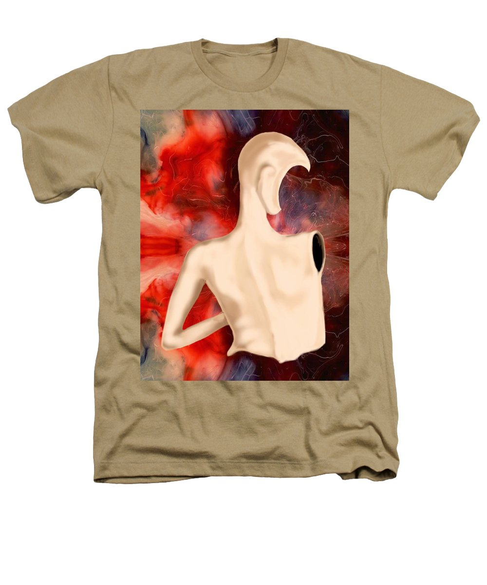 Woman Fashion Naked Surreal Abstract Heathers T-Shirt featuring the digital art Manequin by Veronica Jackson