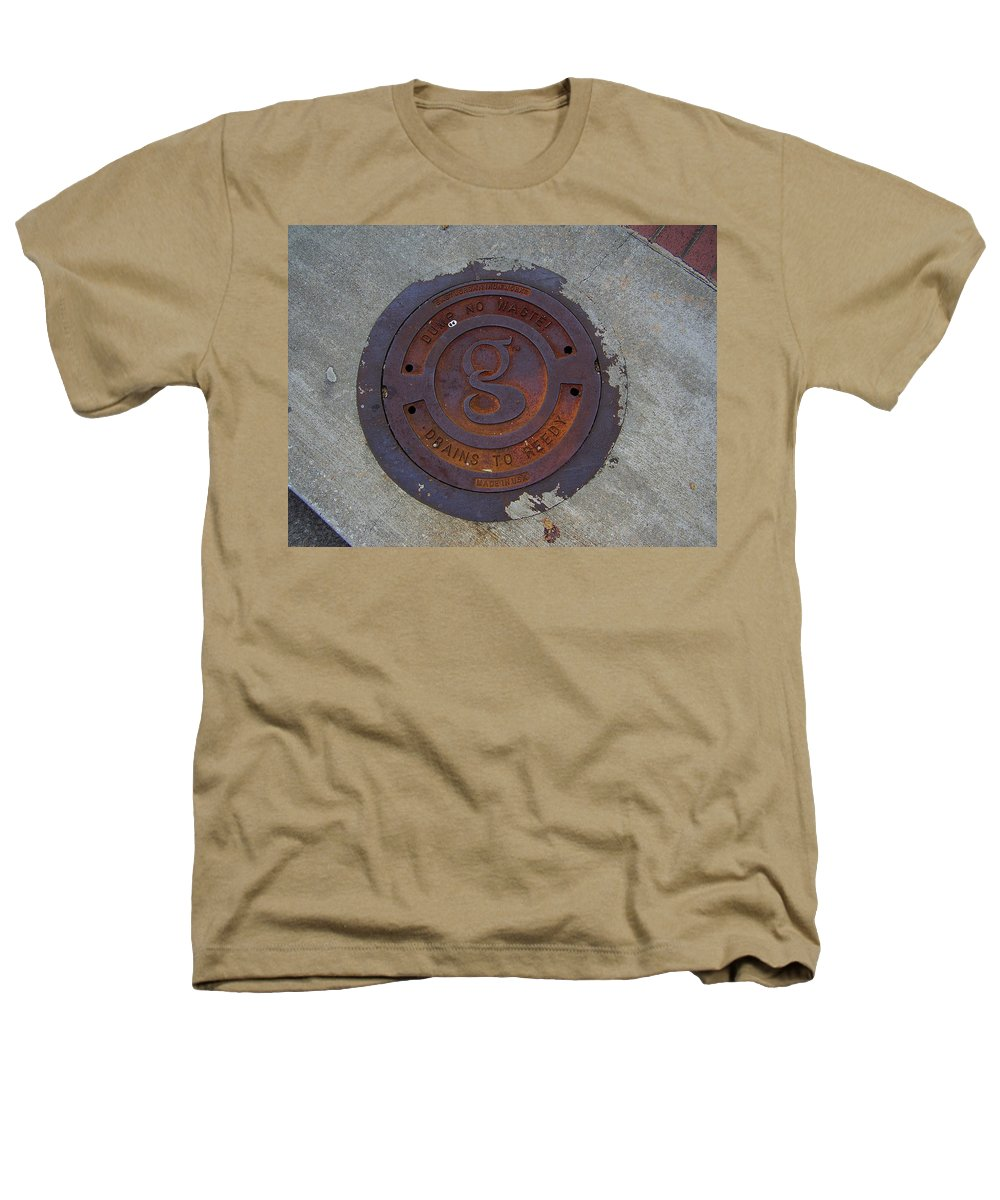 Manhole Heathers T-Shirt featuring the photograph Manhole IIi by Flavia Westerwelle