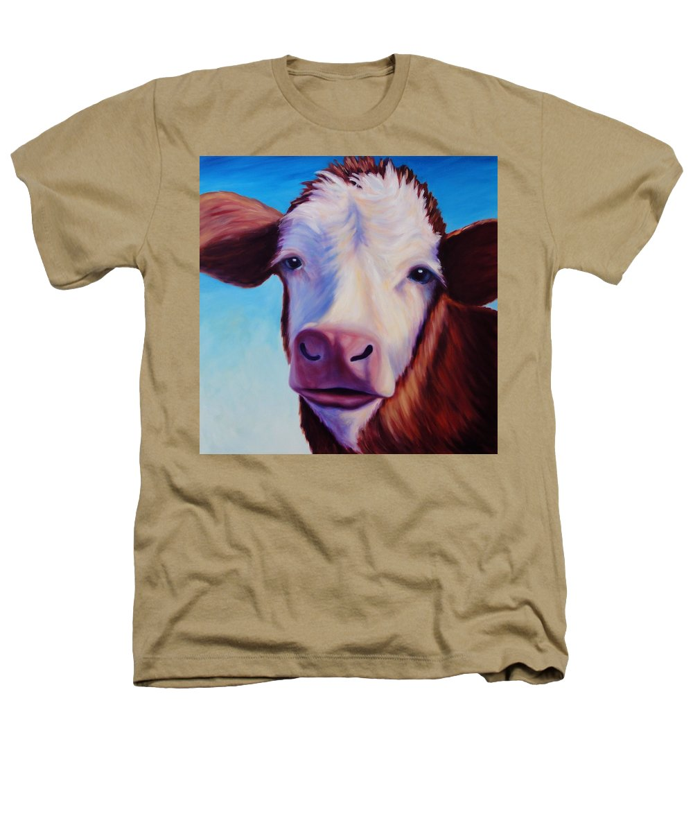 Cow Heathers T-Shirt featuring the painting Marie by Shannon Grissom