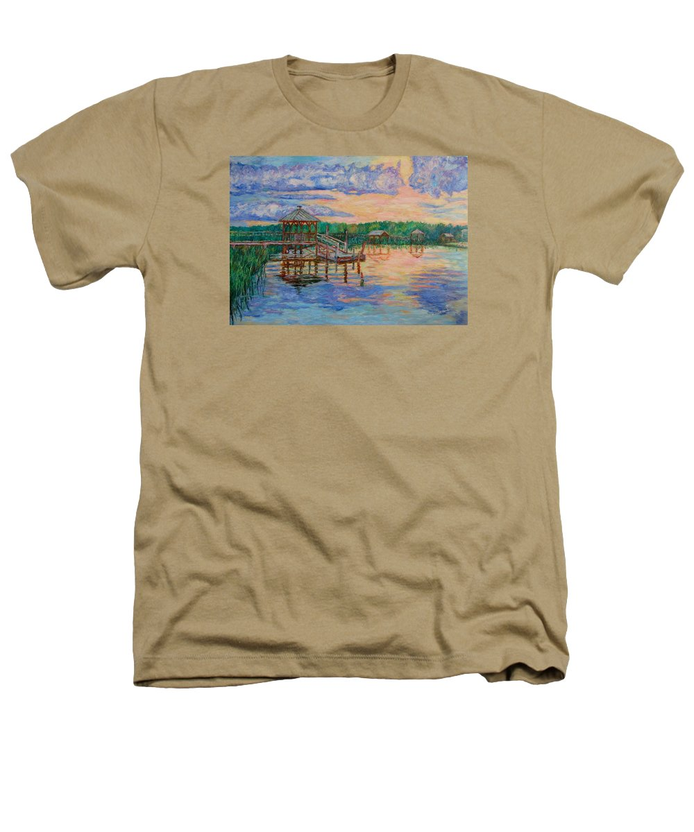 Landscape Heathers T-Shirt featuring the painting Marsh View At Pawleys Island by Kendall Kessler