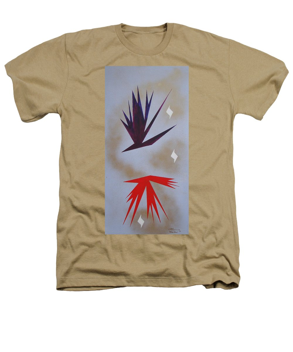 Birds Heathers T-Shirt featuring the painting Mating Ritual by J R Seymour