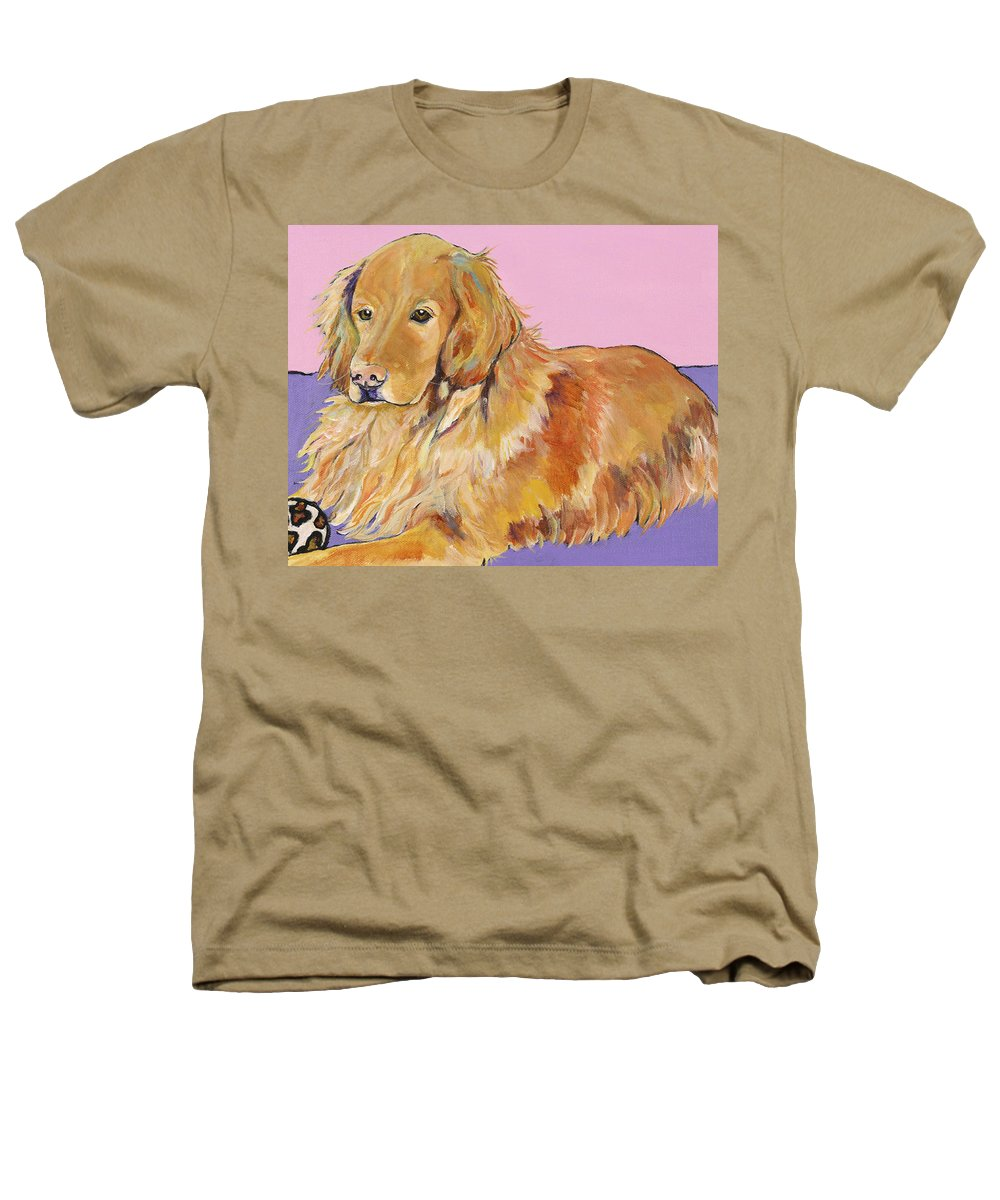 Golden Retriever Heathers T-Shirt featuring the painting Maya by Pat Saunders-White