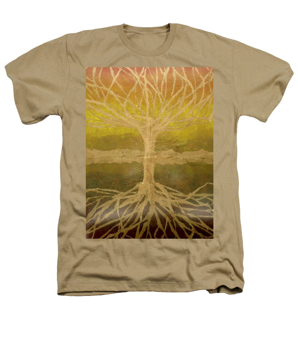 Abstract Heathers T-Shirt featuring the painting Meditation by Leah Tomaino