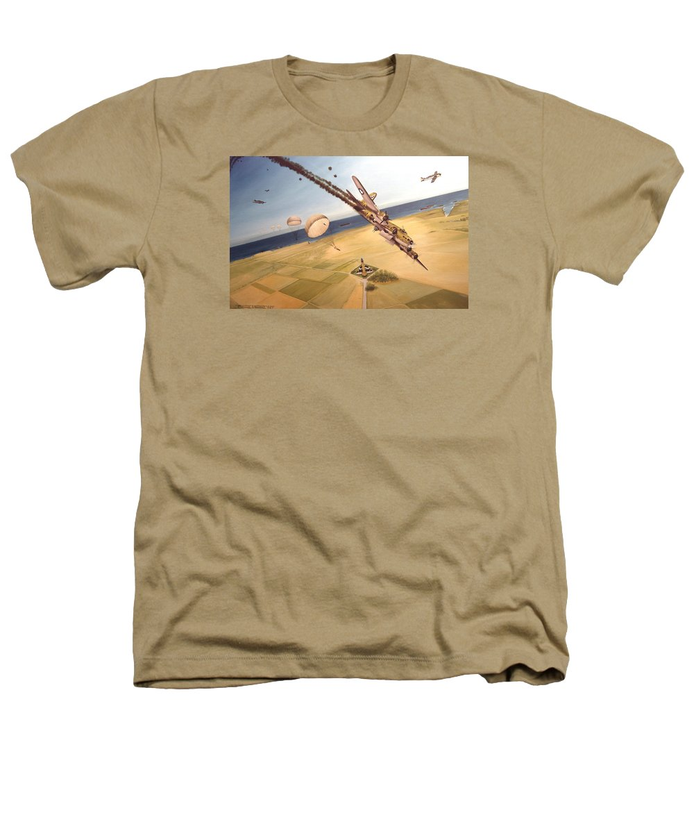 Aviation Heathers T-Shirt featuring the painting Mehitabel by Marc Stewart