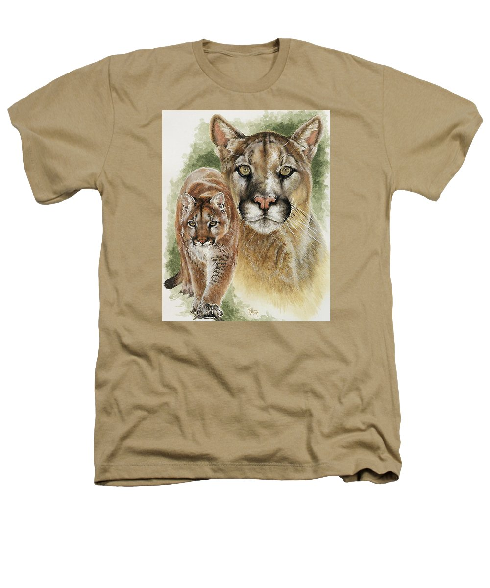 Cougar Heathers T-Shirt featuring the mixed media Mighty by Barbara Keith