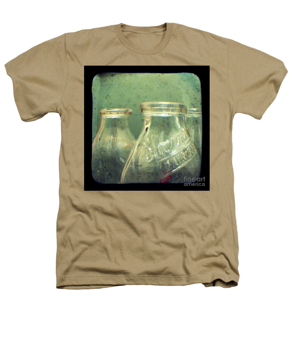 Ttv Heathers T-Shirt featuring the photograph Milk Bottles by Dana DiPasquale