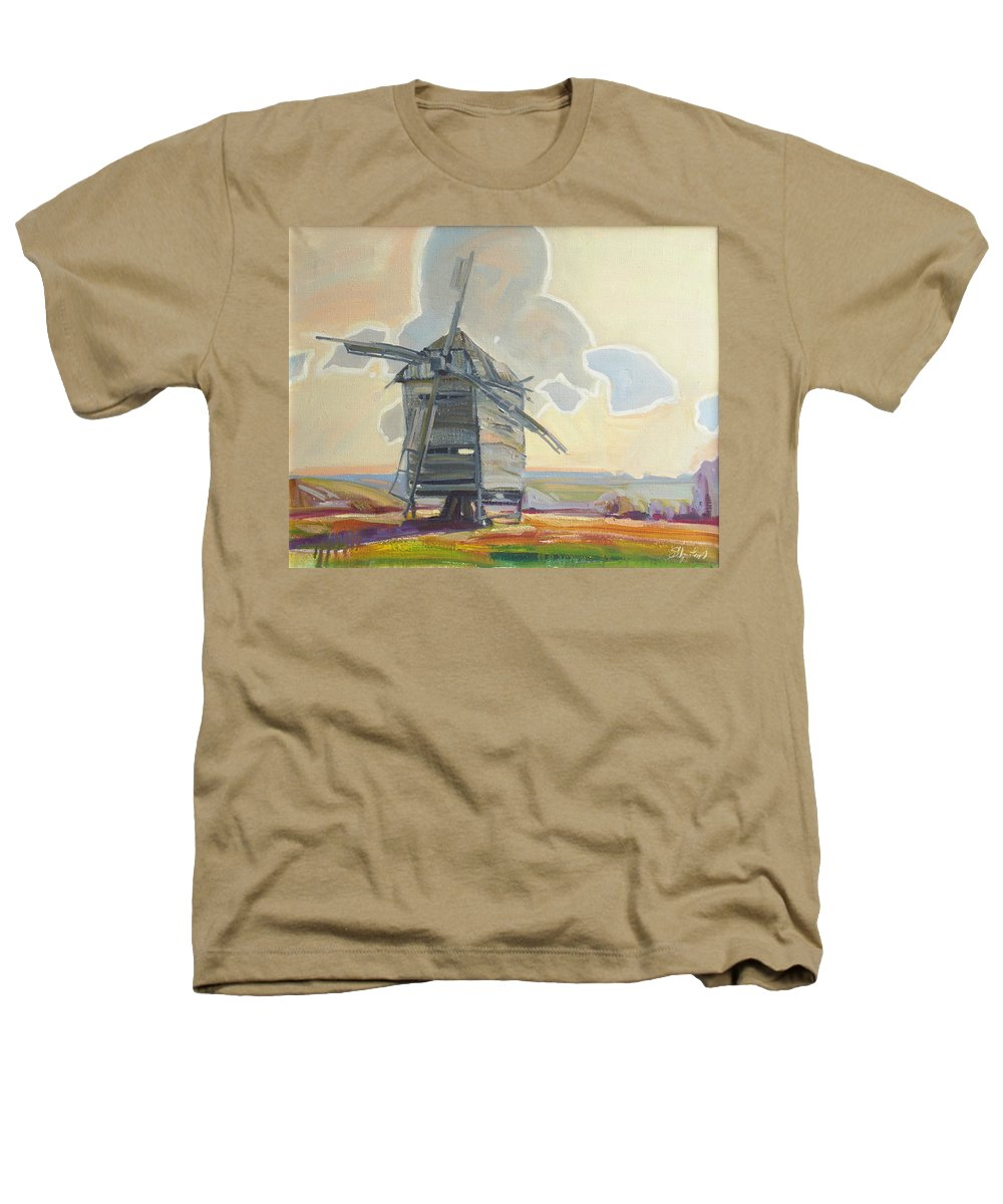 Oil Heathers T-Shirt featuring the painting Mill by Sergey Ignatenko