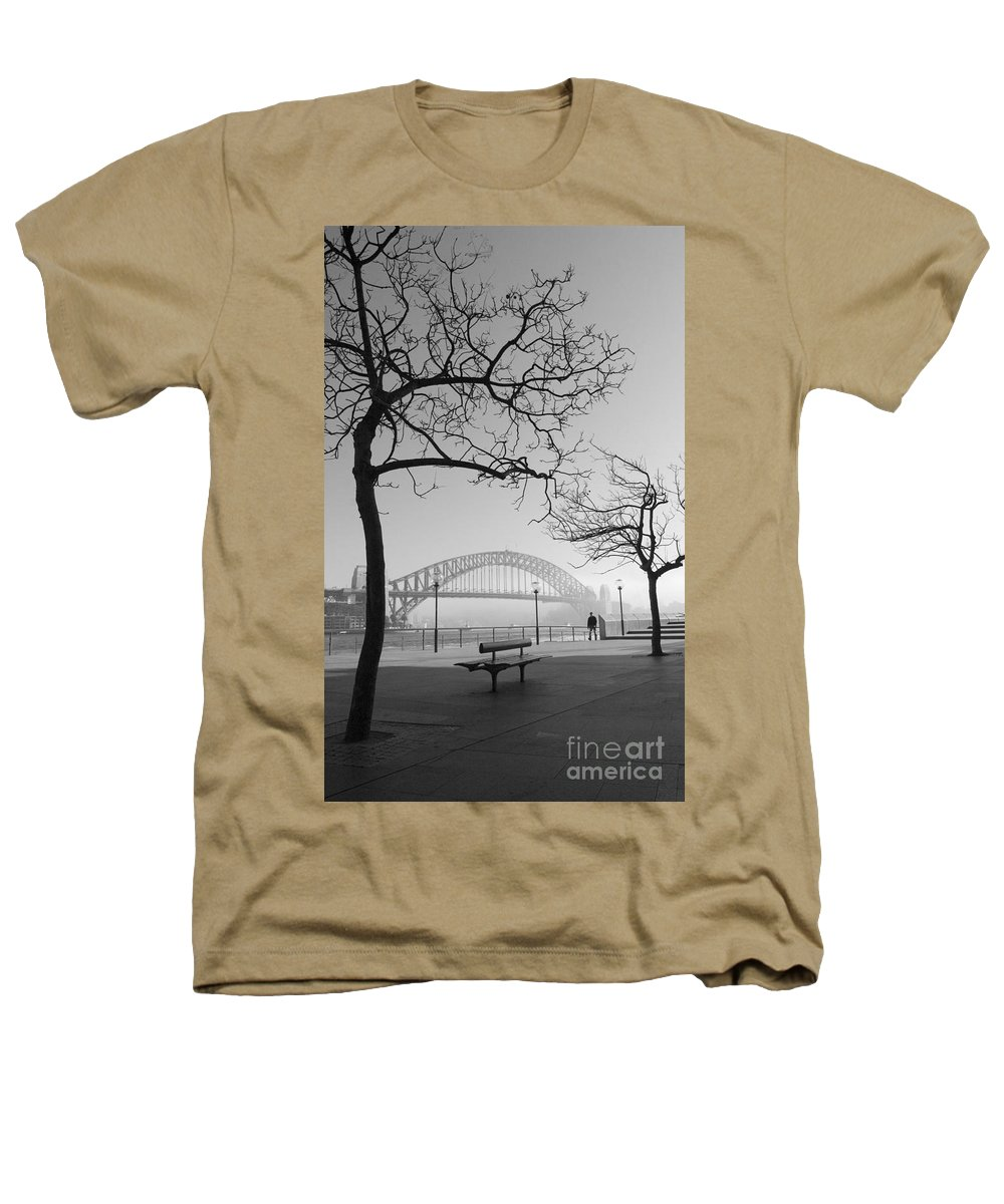 Sydney Harbour Bridge Mist Australia Heathers T-Shirt featuring the photograph Misty Sydney Morning by Sheila Smart Fine Art Photography