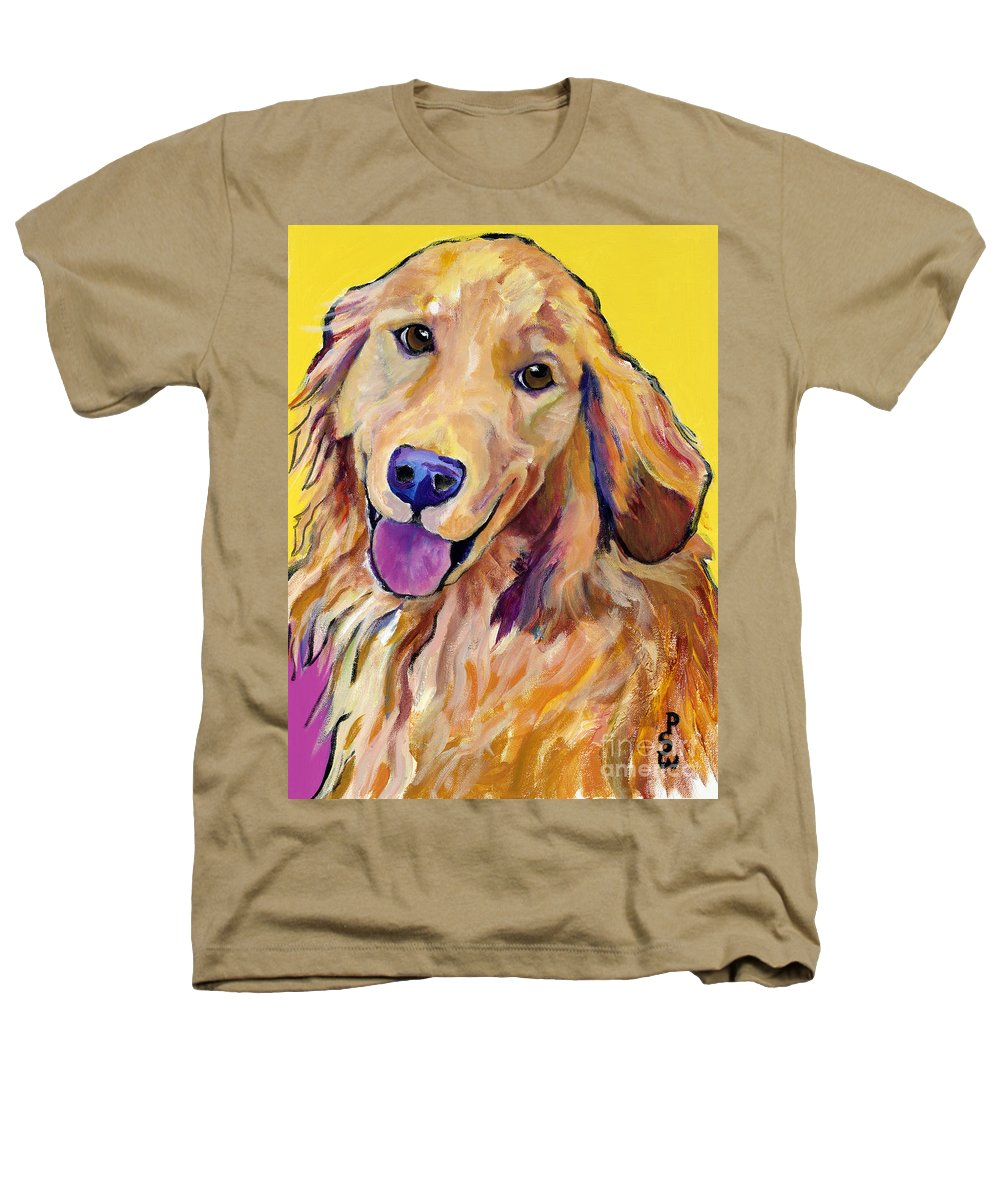 Acrylic Paintings Heathers T-Shirt featuring the painting Molly by Pat Saunders-White