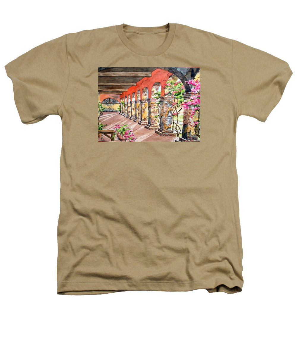 Landscape Heathers T-Shirt featuring the painting Monasterio by Tatiana Escobar