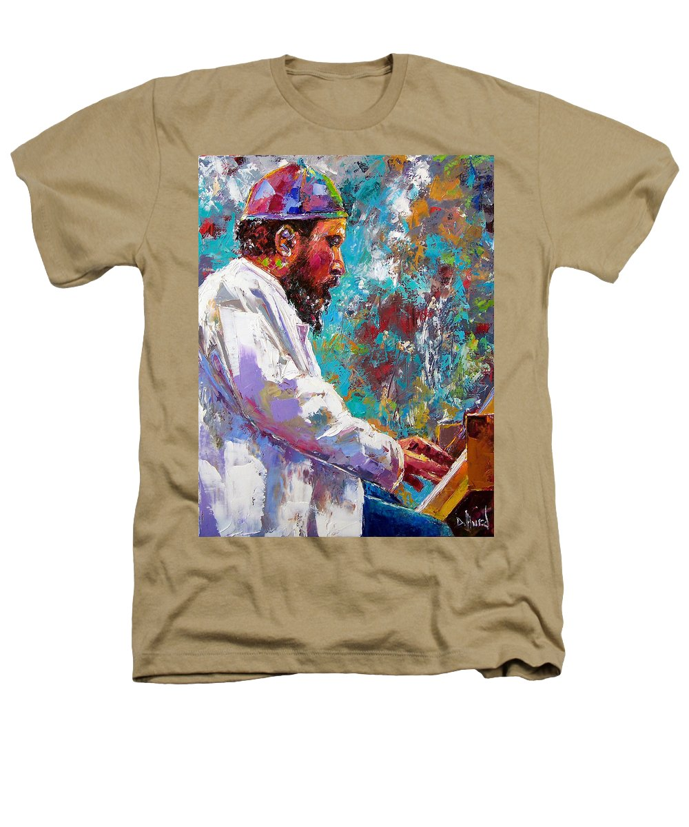 Thelonious Monk Art Heathers T-Shirt featuring the painting Monk Live by Debra Hurd