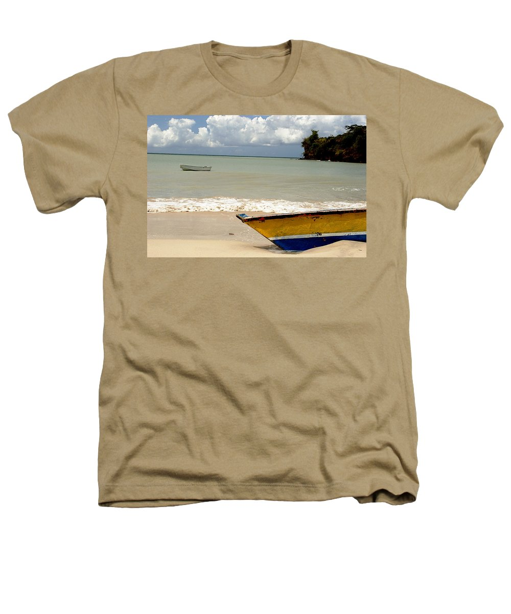 Boat Heathers T-Shirt featuring the photograph Morne Rouge Boats by Jean Macaluso