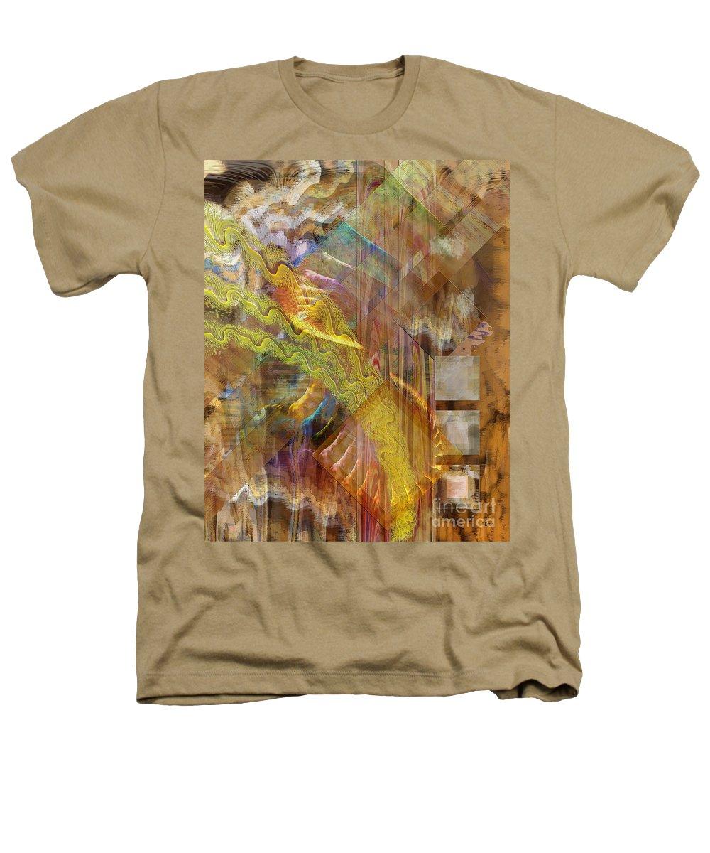 Morning Dance Heathers T-Shirt featuring the digital art Morning Dance by John Beck