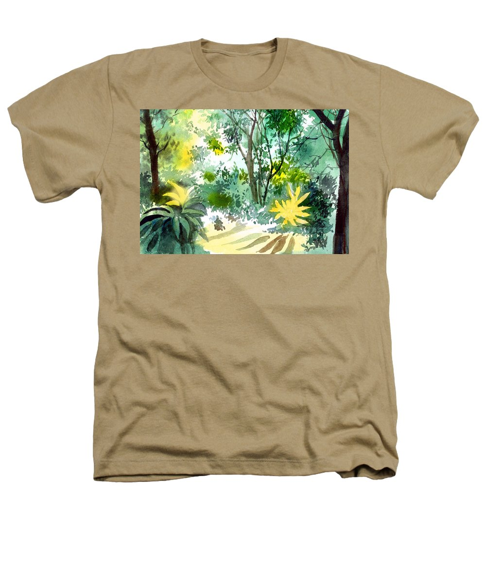 Landscape Heathers T-Shirt featuring the painting Morning Glory by Anil Nene