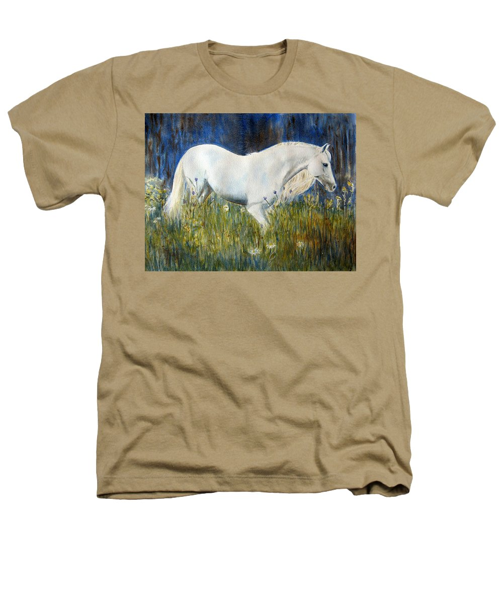 Horse Painting Heathers T-Shirt featuring the painting Morning Walk by Frances Gillotti