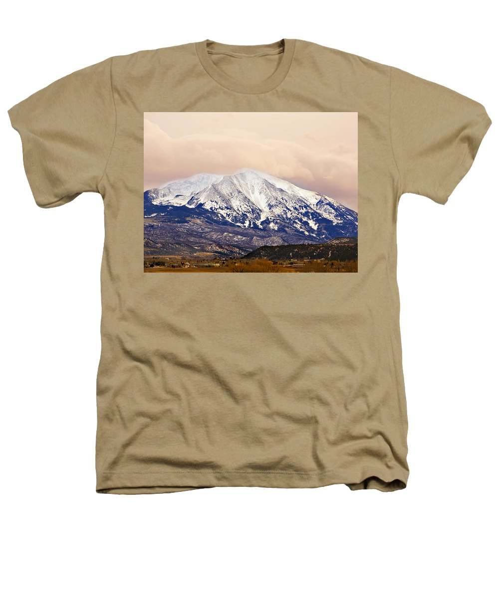 Americana Heathers T-Shirt featuring the photograph Mount Sopris by Marilyn Hunt