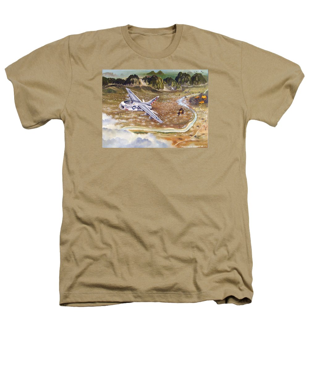 Aviation Heathers T-Shirt featuring the painting Mu Gia Mayhem by Marc Stewart