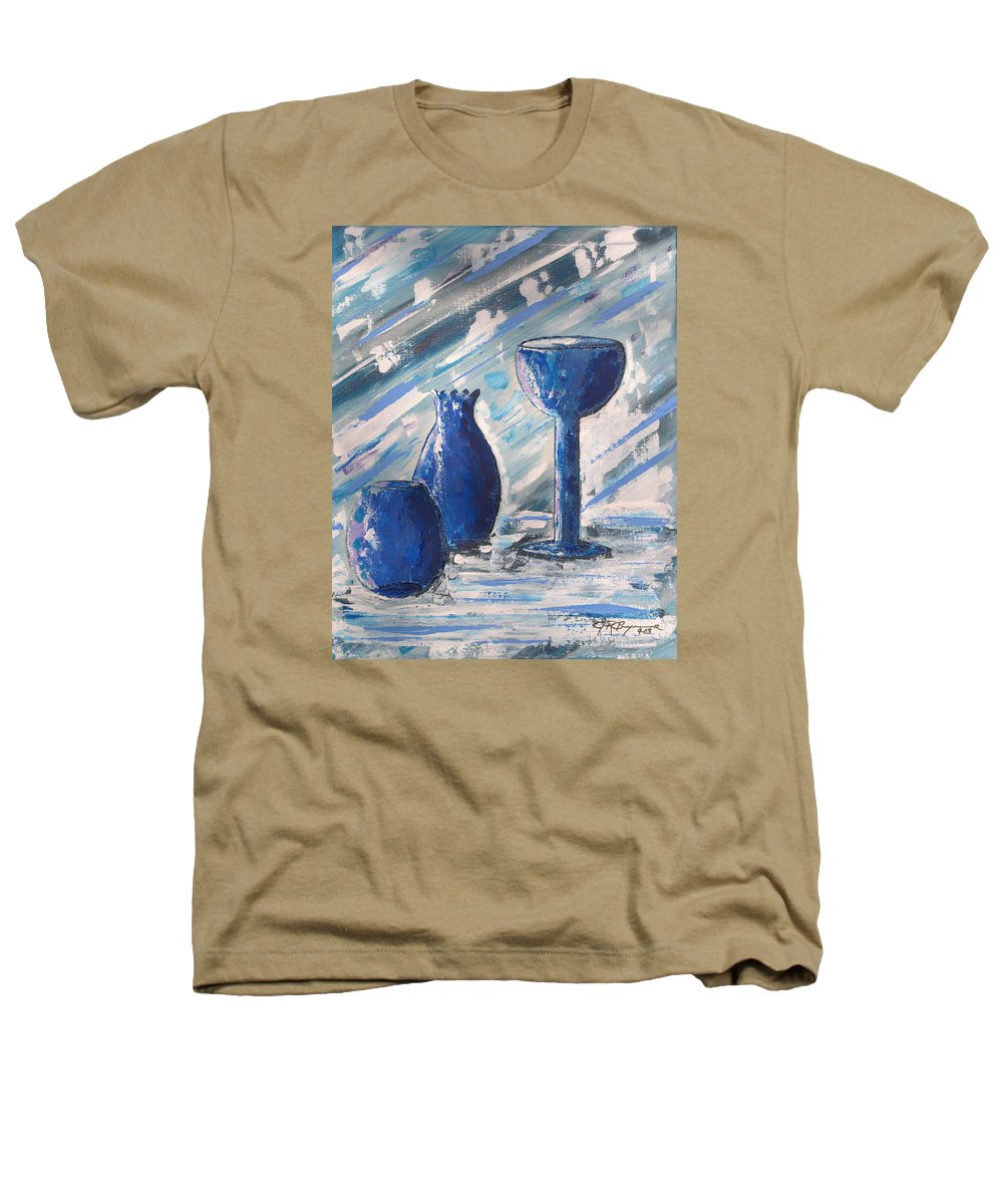 Vases Heathers T-Shirt featuring the painting My Blue Vases by J R Seymour