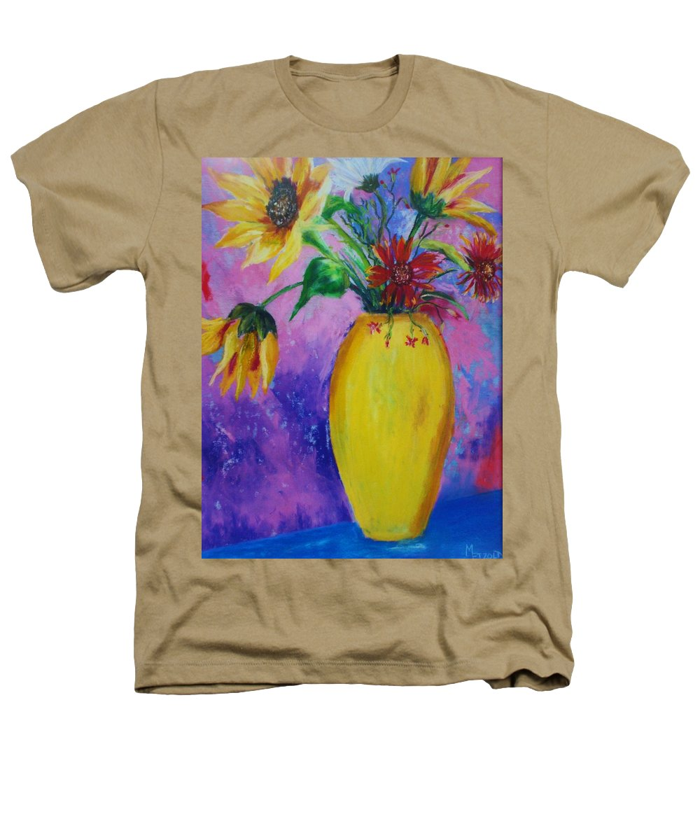 Sunflowers Heathers T-Shirt featuring the painting My Flowers by Melinda Etzold