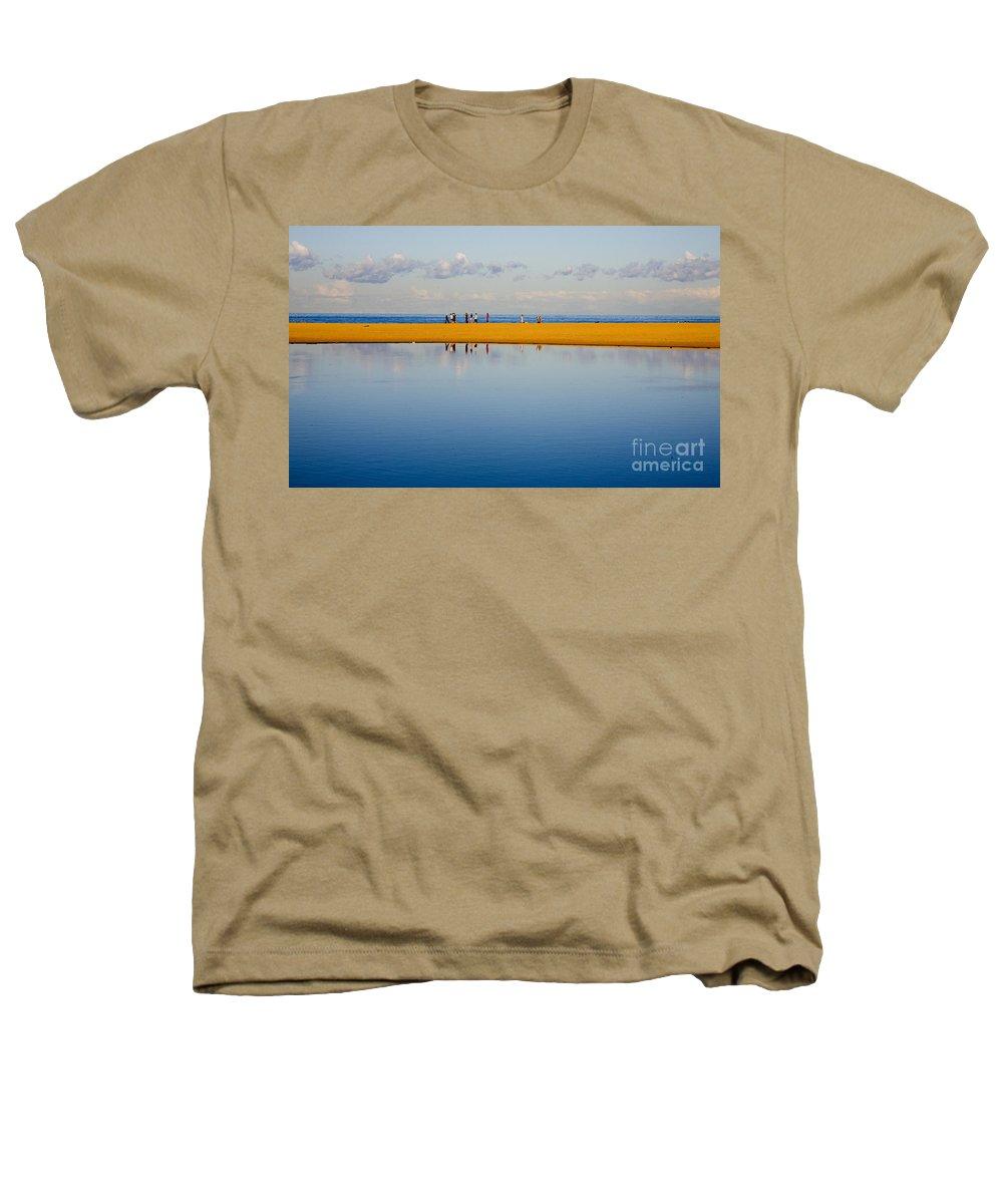 Dunes Lowry Sand Sky Reflection Sun Lifestyle Narrabeen Australia Heathers T-Shirt featuring the photograph Narrabeen Dunes by Sheila Smart Fine Art Photography
