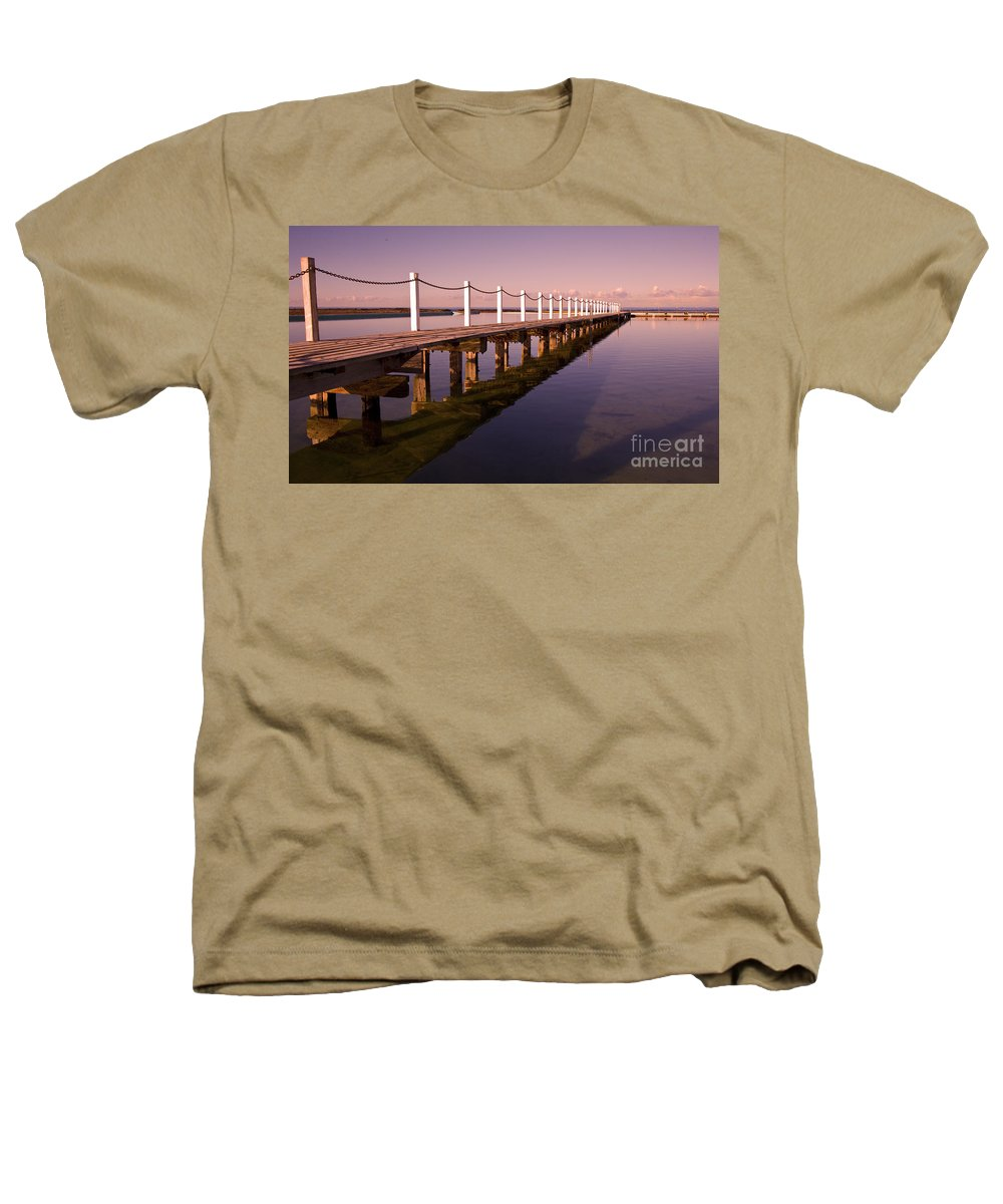Narrabeen Sydney Sunrise Wharf Walkway Heathers T-Shirt featuring the photograph Narrabeen Sunrise by Avalon Fine Art Photography