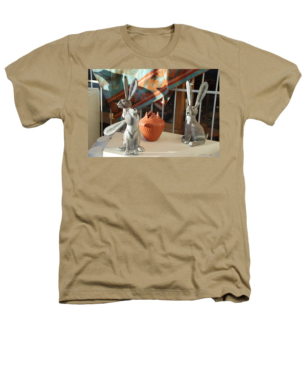 Rabbits Heathers T-Shirt featuring the photograph New Mexico Rabbits by Rob Hans