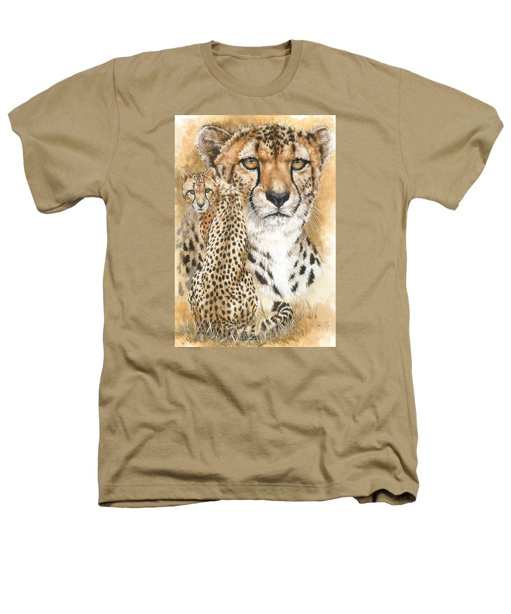 Cheetah Heathers T-Shirt featuring the mixed media Nimble by Barbara Keith
