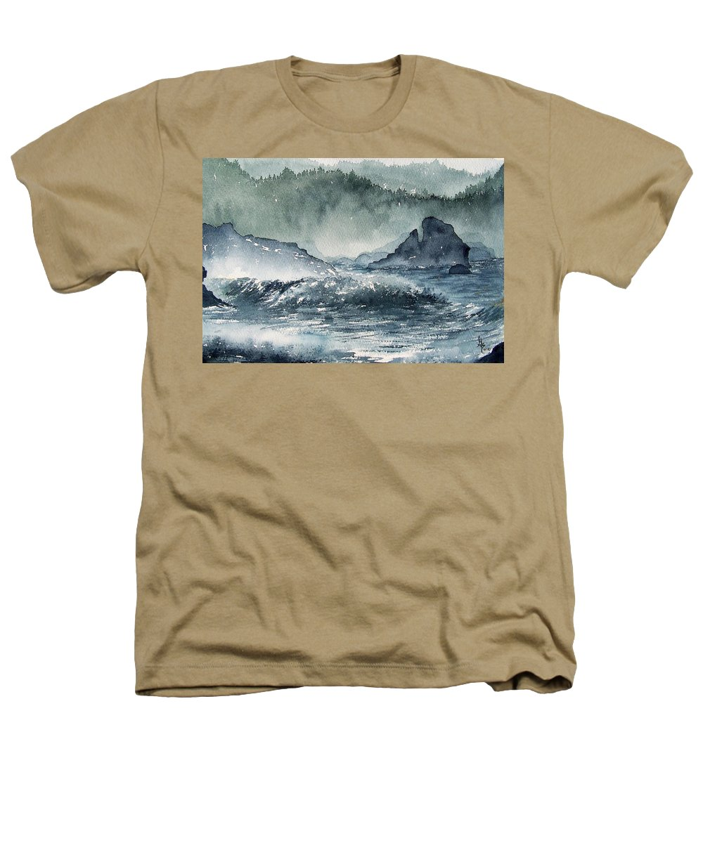 Ocean Heathers T-Shirt featuring the painting Northern California Coast by Gale Cochran-Smith