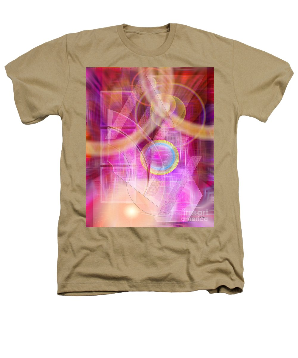 Northern Lights Heathers T-Shirt featuring the digital art Northern Lights by John Beck