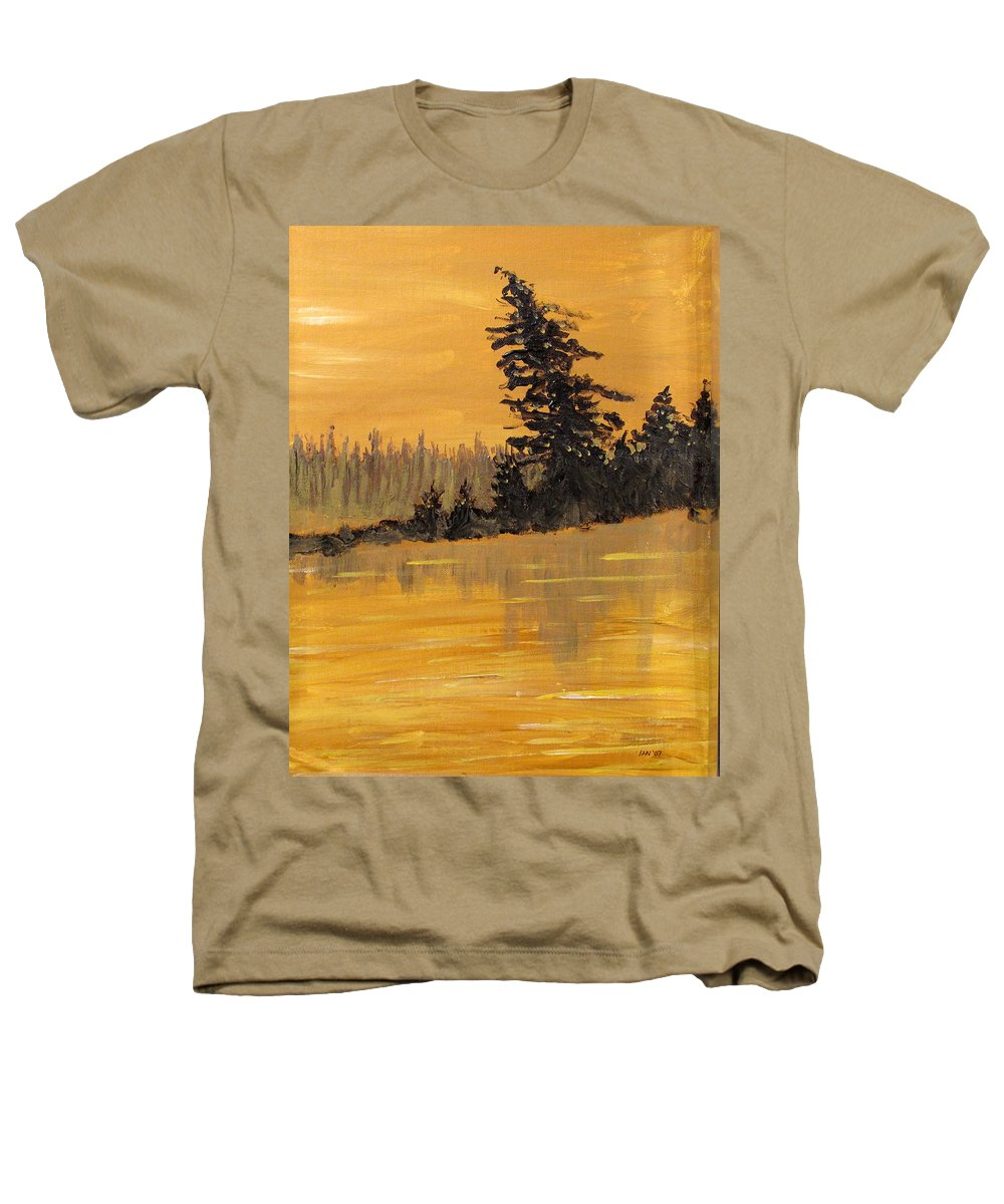 Northern Ontario Heathers T-Shirt featuring the painting Northern Ontario Three by Ian MacDonald