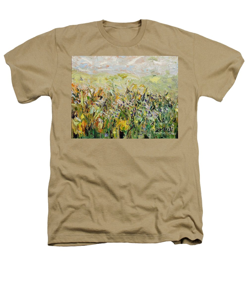 Field Paintings Heathers T-Shirt featuring the painting Nose Hill by Seon-Jeong Kim