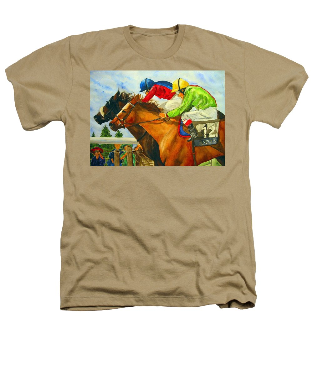 Horse Heathers T-Shirt featuring the painting Nose To Nose by Jean Blackmer