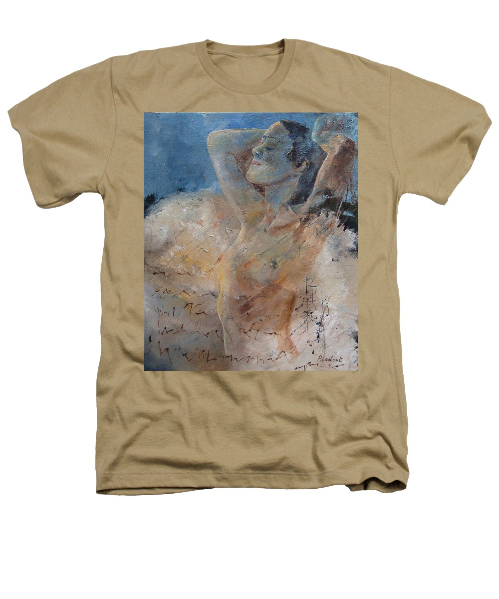 Nude Heathers T-Shirt featuring the painting Nude 0508 by Pol Ledent