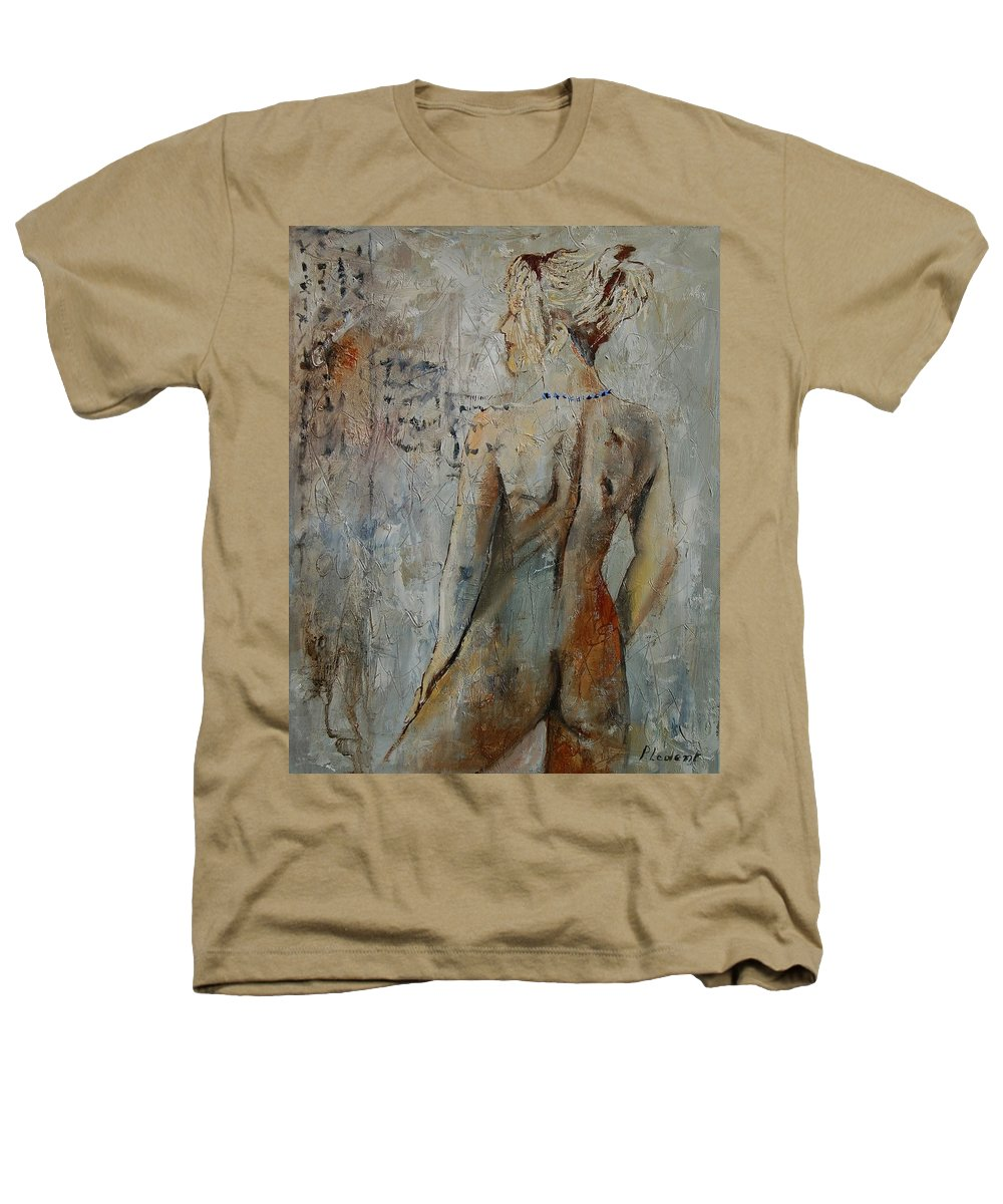 Girl Heathers T-Shirt featuring the painting Nude 459020 by Pol Ledent
