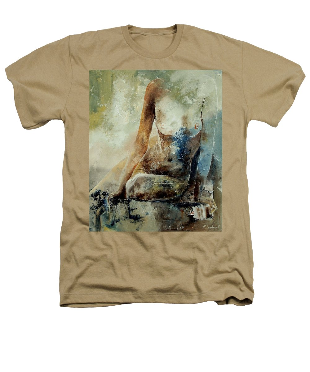 Nude Heathers T-Shirt featuring the painting Nude 560408 by Pol Ledent