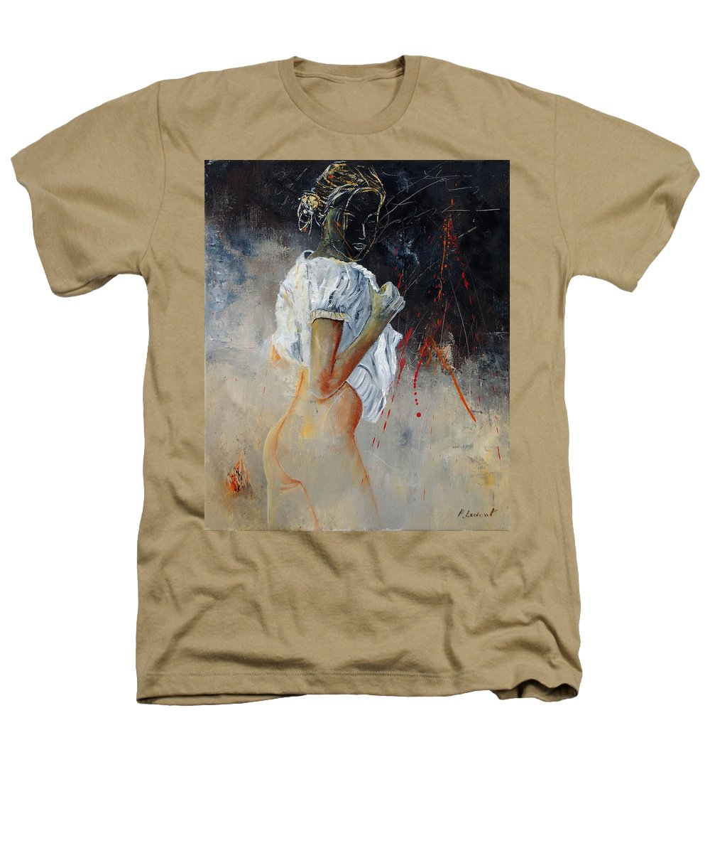 Nude Heathers T-Shirt featuring the painting Nude 560508 by Pol Ledent