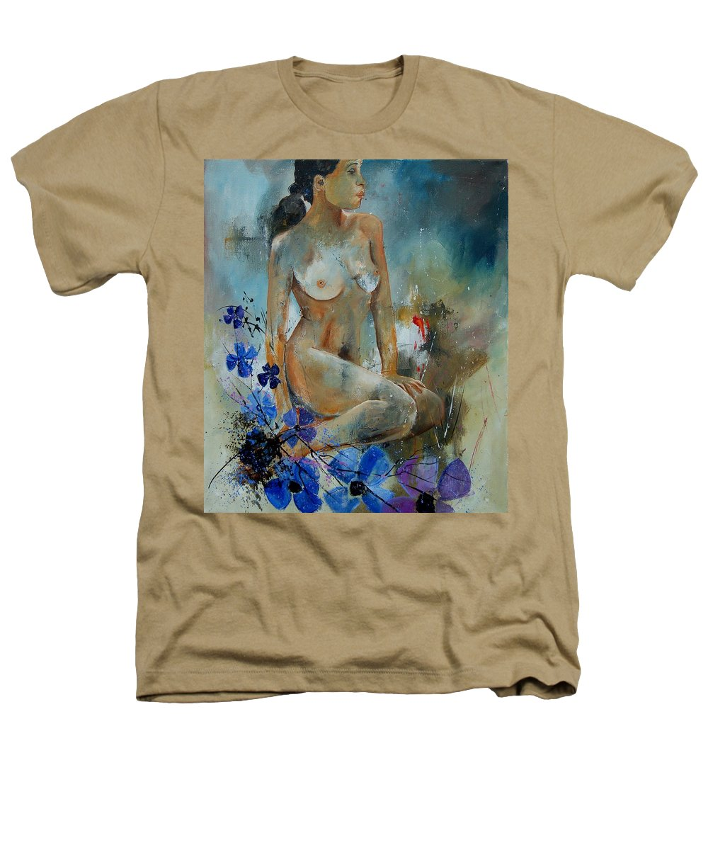 Girl Heathers T-Shirt featuring the painting Nude 67 by Pol Ledent