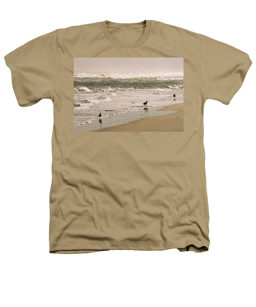 Seascape Heathers T-Shirt featuring the photograph Ocean Edge by Steve Karol