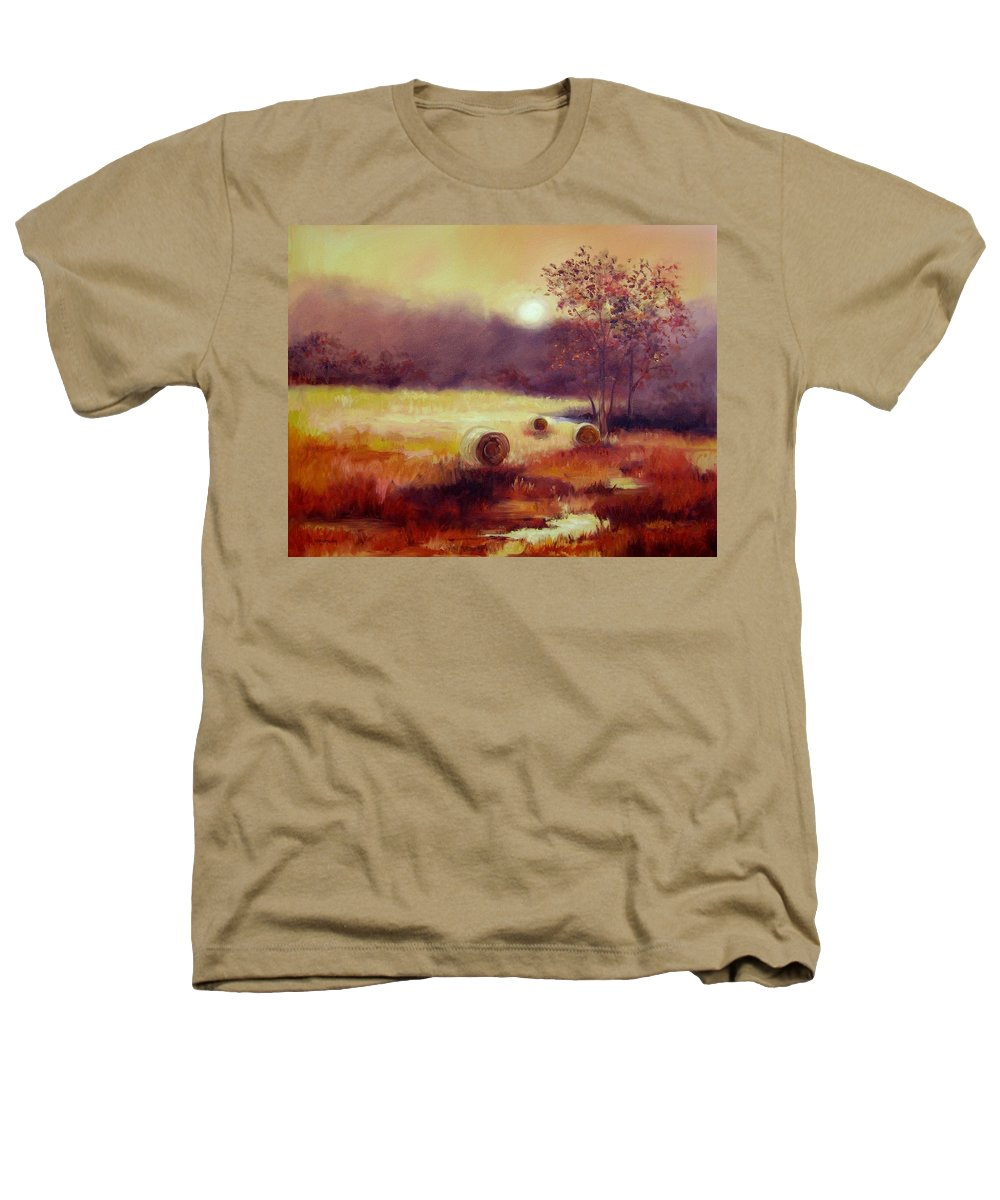 Fall Landscapes Heathers T-Shirt featuring the painting October Pasture by Ginger Concepcion