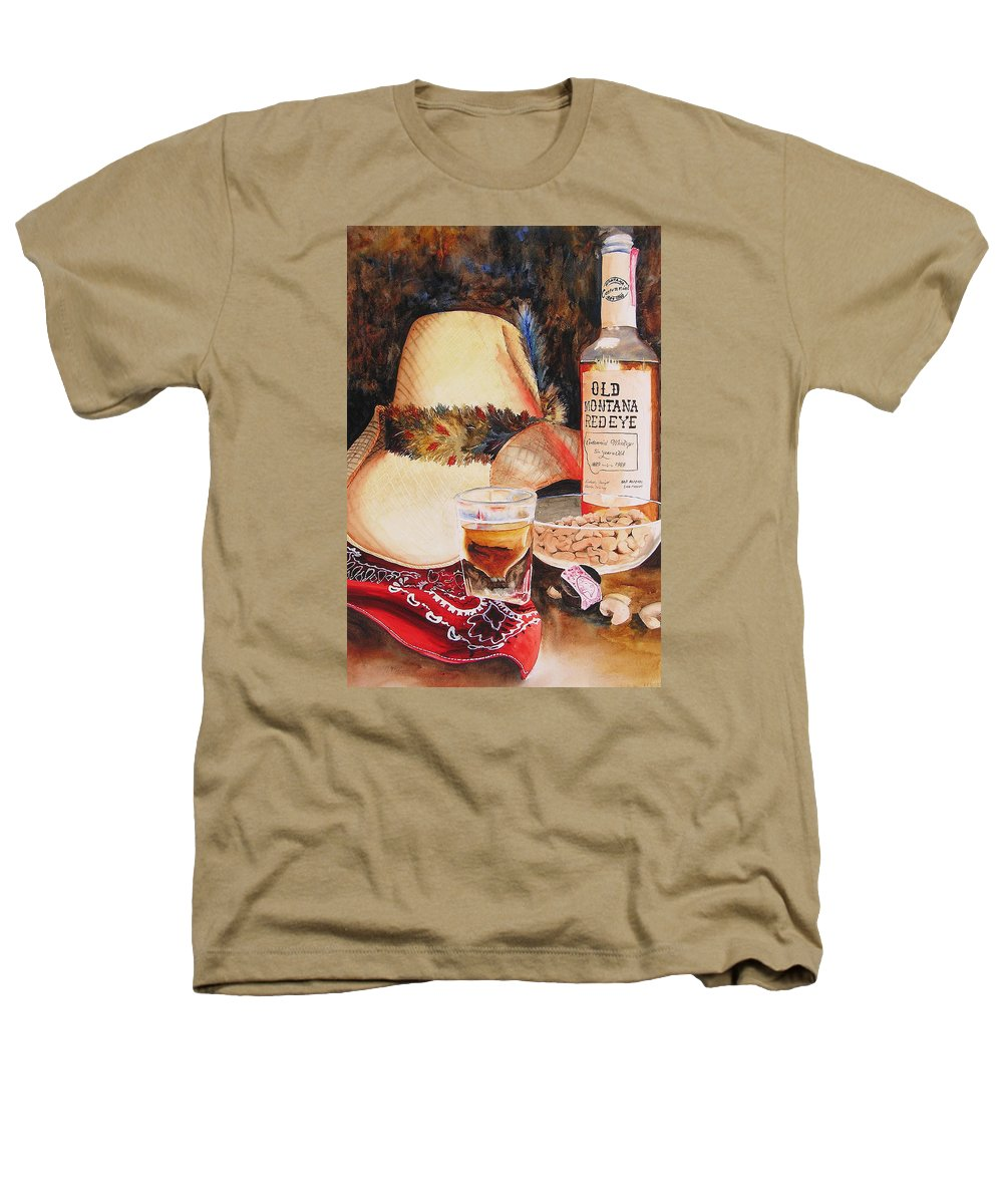 Whiskey Heathers T-Shirt featuring the painting Old Montana Red Eye by Karen Stark