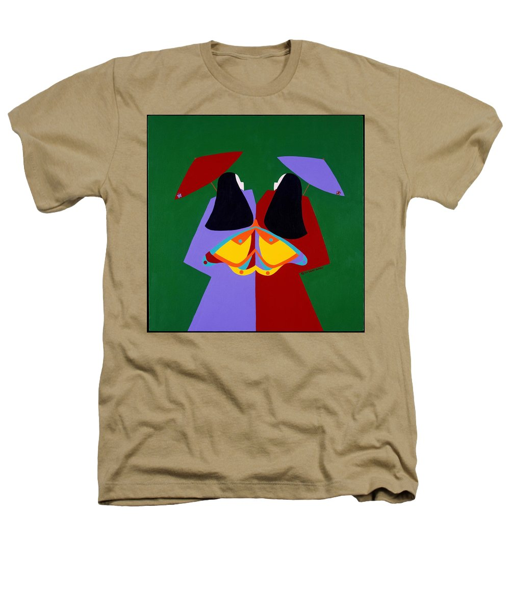 Asian Heathers T-Shirt featuring the painting Old Same by Synthia SAINT JAMES