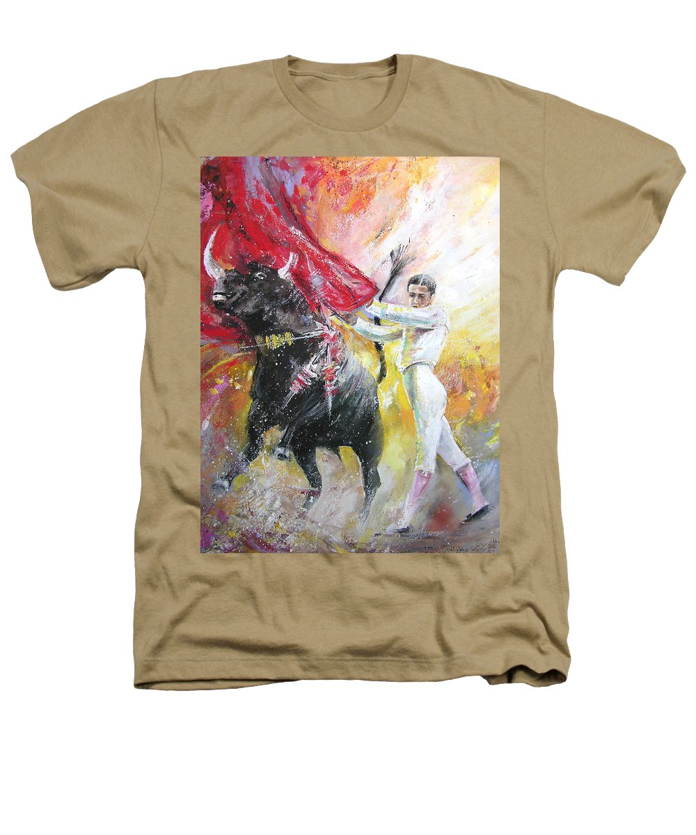 Animals Heathers T-Shirt featuring the painting Ole by Miki De Goodaboom