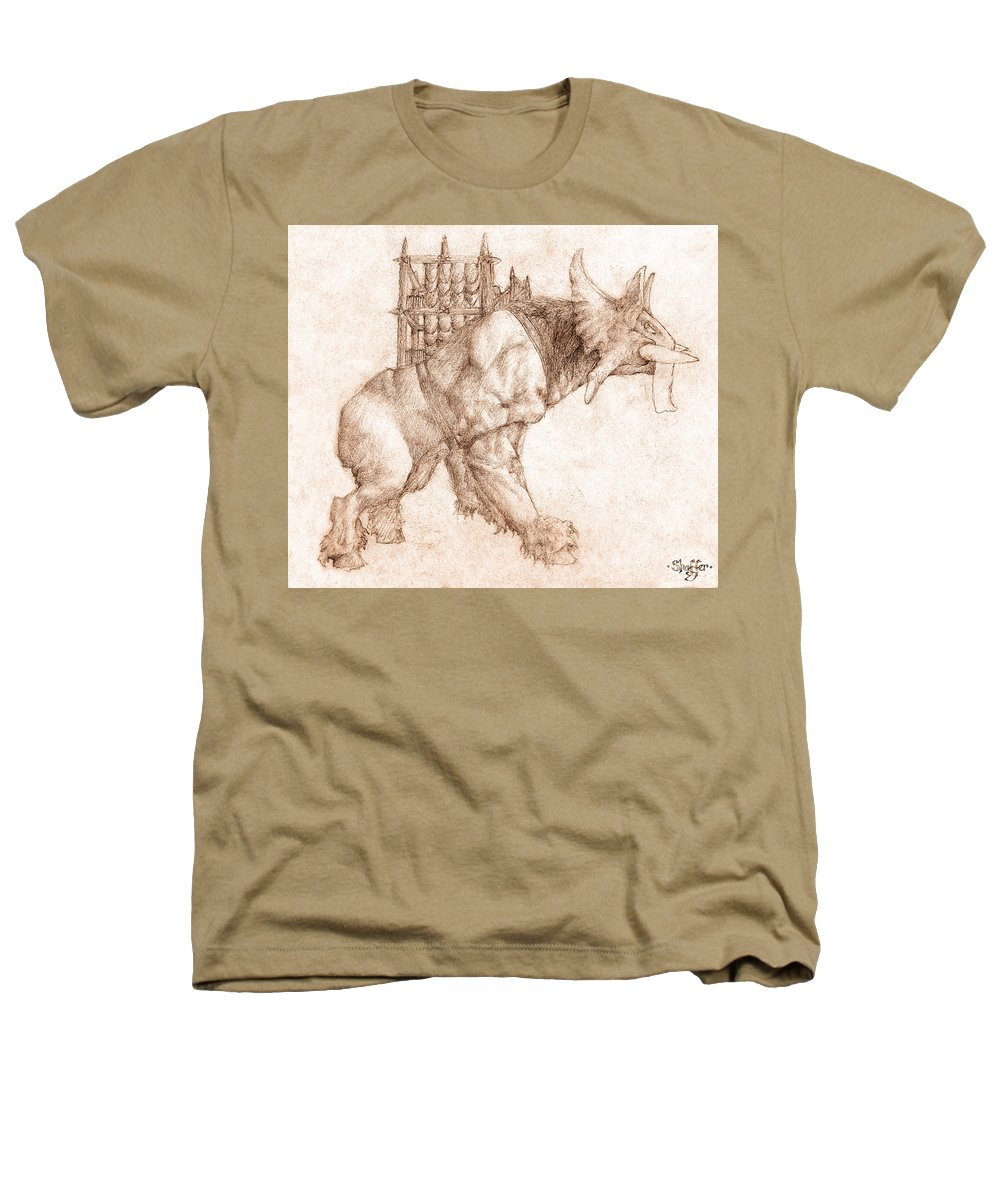 Lord Of The Rings Heathers T-Shirt featuring the drawing Oliphaunt by Curtiss Shaffer