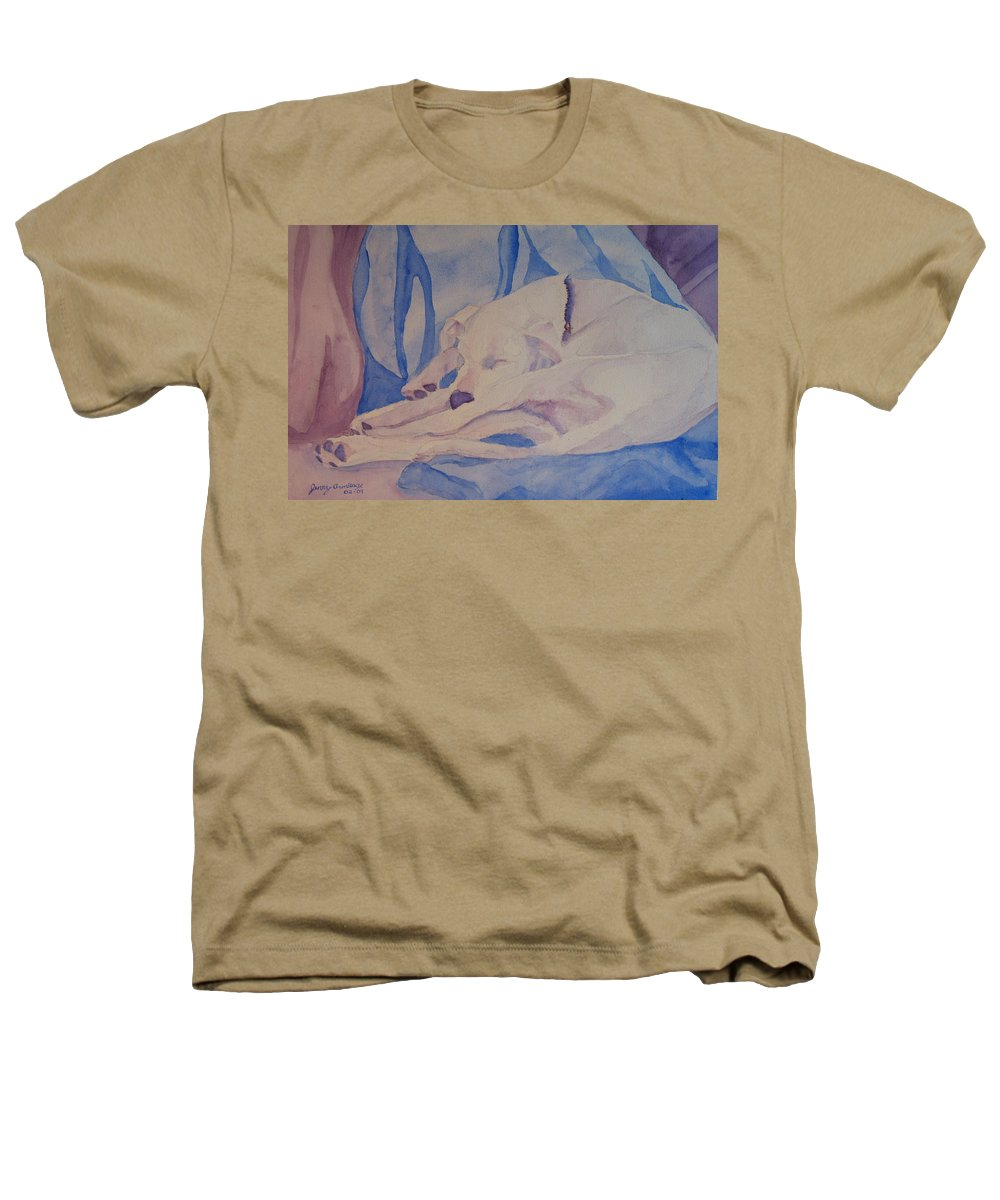 Dog Heathers T-Shirt featuring the painting On Fallen Blankets by Jenny Armitage