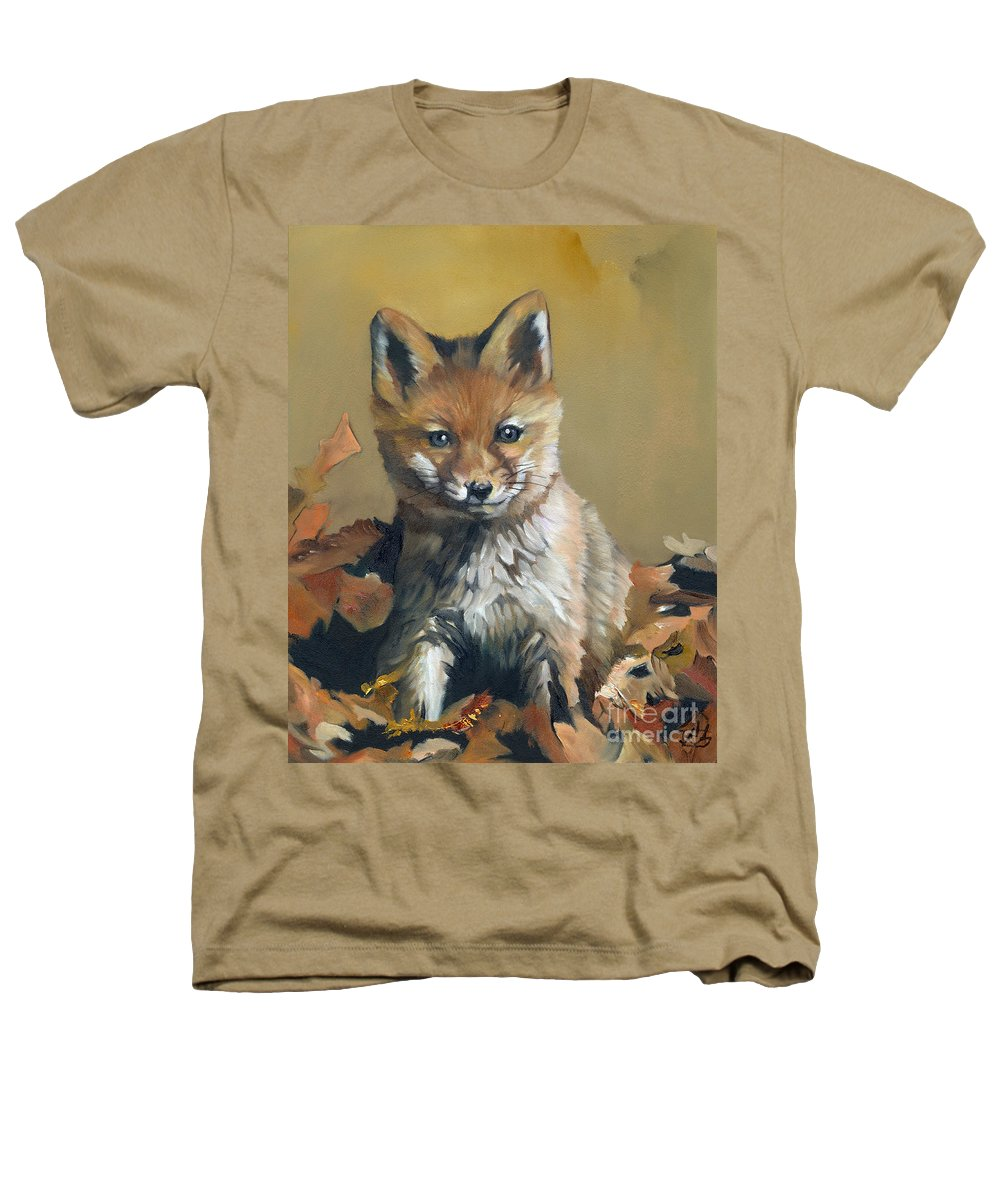 Fox Heathers T-Shirt featuring the painting Once Upon A Time by J W Baker